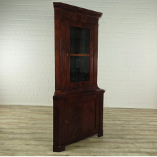 16729E Eckschrank Biedermeier 1840