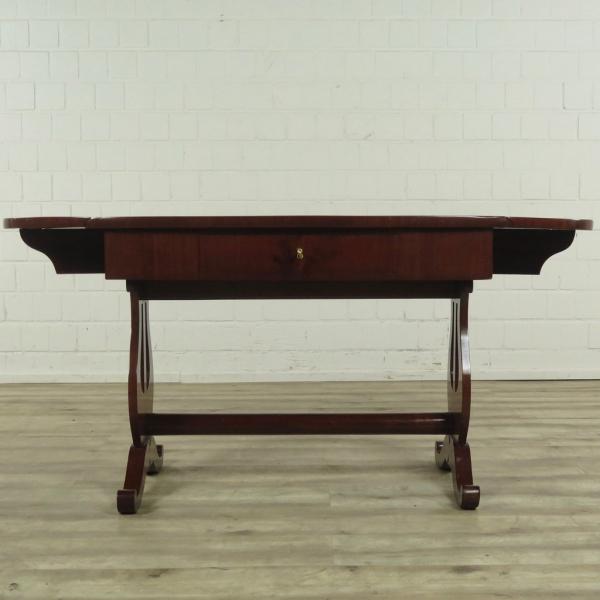 Biedermeier Tafel Met Stoelen.16730 Biedermeier Tafel Inklapbaar 1850