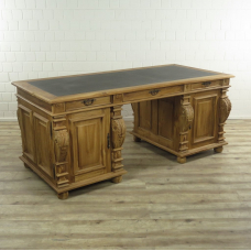 16827E Office desk - Teak wood 1.90 m