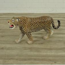 16851E Skulptur Dekoration Leopard Teakholz 1,04 m