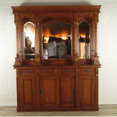 16854aE English Bar Mahogany Cabinet 2,00 m