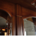 16854aE Englische Bar Rückwandbuffet Mahagoni 2,00 m