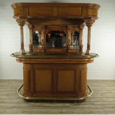 16855E Home Bar Counter Mahogany 2,00 m