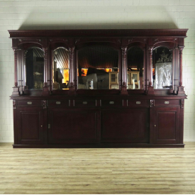 16856aE English Bar Mahagony Cabinet 3,60 m