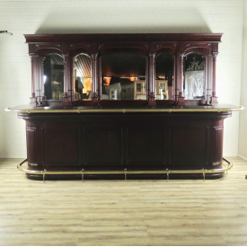 16856  English Bar Counter Mahogany 3,60 m