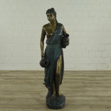 16888 Skulptur Dekoration Frau Bronze 1,32 m