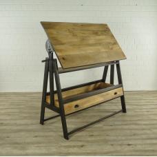 16970E Zeichentisch Schreibtisch Teakholz 1,73 m