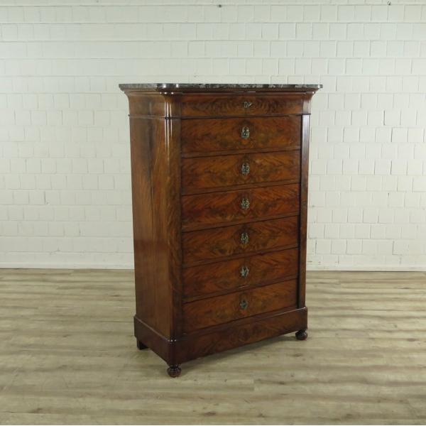 16976E Sekretär Hochkommode Biedermeier 1850