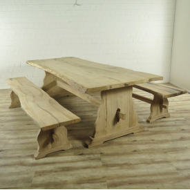 17015 Garden table and benches  2,61 m x 1,05 m