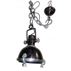 17027a Hanging Lamp Metal Black 28 cm