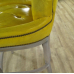 17067E Chesterfield Barhocker Barsessel Leder Gelb