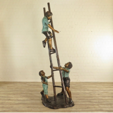 17126 Skulptur Dekoration Kinder Bronze 0,71 m