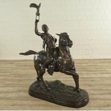 17133E Skulptur Dekoration Falkner Bronze 1,18 m