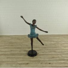 17136E Skulptur Dekoration Ballerina Bronze 1,29 m