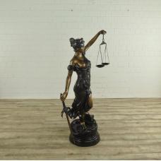 17137E Skulptur Dekoration Justitia Bronze 1,58 m