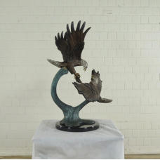 17139E Statue Decoration Eagles Bronze 1,06 m