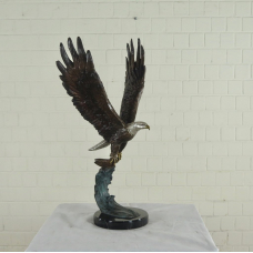 17141E Skulptur Dekoration Adler Bronze 0,96 m