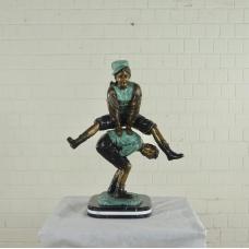 17143E Skulptur Dekoration Kinder Bronze 0,85 m
