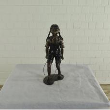 17152E Skulptur Dekoration Mädchen Tauspringen Bronze 0,52 m