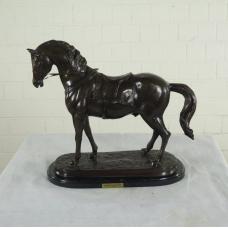 17157E Sculpture Decoration Horse Bronze 0,48 m