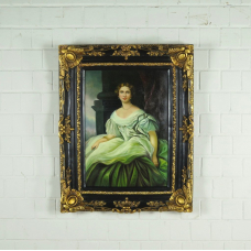 17194 Gemälde Wandbild mit Barockrahmen 0,80 m x 1,00 m
