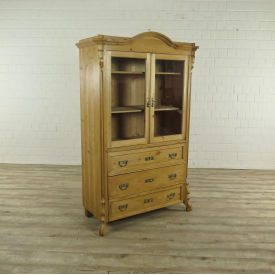 17234 Showcase Bookcase Louis Philippe 1870