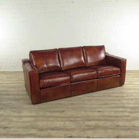 17254E Couch Leather Cognac 3-seat