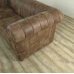 17257E Couch Rindleder Brown 2,5-Sitzer