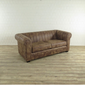 17257E Couch Leather Brown 2,5-seat