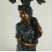 17271 Kerzenständer Frau Bronze 0,97 m