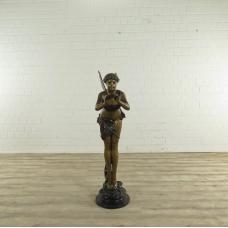 17272 Sculpture Decoration Elf flute  Bronze 1.45 m