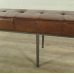 17275E Bank Sitzbank Industrial Design Leder 2,00 m