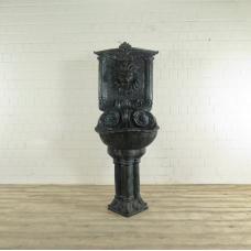 17277E Wasserspeier Wandbrunnen Bronze 1,90 m