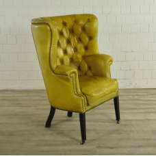 17321E Chesterfield Armchair Yellow