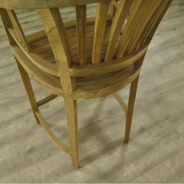17325 barhocker mit armlehne teakholz. Black Bedroom Furniture Sets. Home Design Ideas