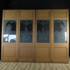 17355E Vierflügeliger Raumteiler Türen Jugendstil 1910