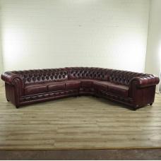 17369 Chesterfield Couch Eckbank Braun 3,00 m x 2,80 m
