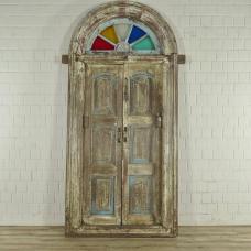 17373E Tür Eingangstür Haustür Teakholz 1900
