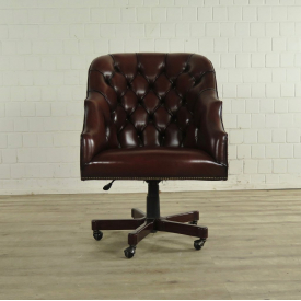17380 Desk Chair Leather Brown 0.73 m