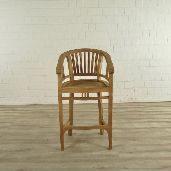 17387 barhocker mit armlehne teakholz. Black Bedroom Furniture Sets. Home Design Ideas