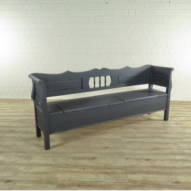 17394 Wooden Chest Bench Grey 2,19 m