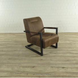 17419 Sofa Chair Industrial Design Brown