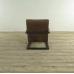 17419E Sessel Industrial Design Leder Braun