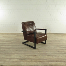 17424 Chair Industrial Design leather Brown