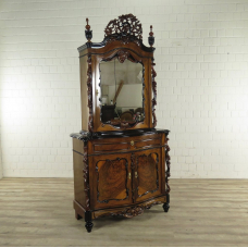 17435E Showcase Bonheur Biedermeier 1850