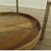17447 Beistelltisch Tisch Teakholz Ø 0,78 m
