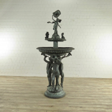 17461E Wasserspeier Engel Bronze 2,20 m