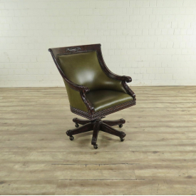 17464 Maitland-Smith Office Chair Leather Green