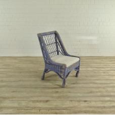 17473 VAN THIEL & CO. Armchair - Blue/Cream/White