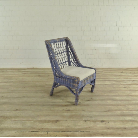 17473 VAN THIEL & CO. Armchair - Blue/Cream/White